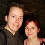 Nous deux à l'Abbaye de Villers la Villedeux